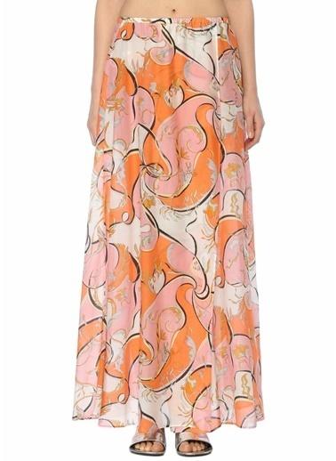 Desenli Çiçekli Uzun Etek-Emilio Pucci
